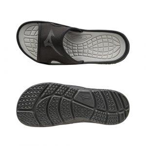Mizuno RELAX SLIDE slippers zwart/zilver maat XXXL