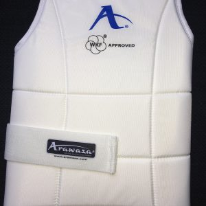 Karate-bodyprotector Arawaza WKF-approved | wit | maat XS