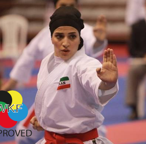 Karate-hijab (WKF-approved) Arawaza | zwart