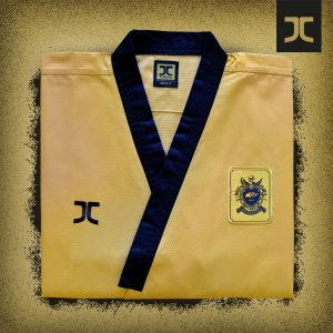Poomsae taekwondopak JC hoge dan | WT | goudkleurig | 190