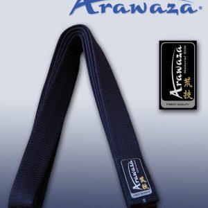 Karateband zijde Arawaza | zwart | maat 330