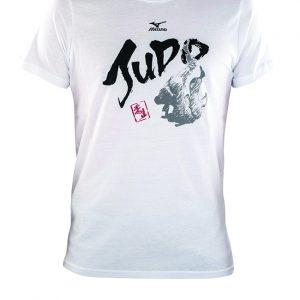 Mizuno Judo T-shirt korte mouw wit maat XXL