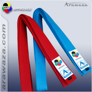Karateband voor kumite Japanse stijl Arawaza | blauw | 220