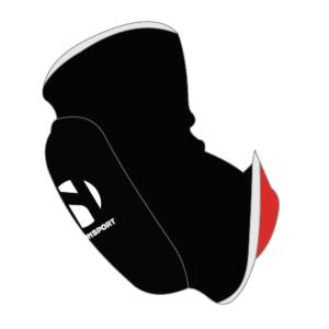 Elleboogbeschermer omkeerbaar Nihon   zwart-rood