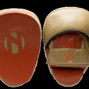 Focushandschoenen (coaching mitts) Nihon | leer | bruin